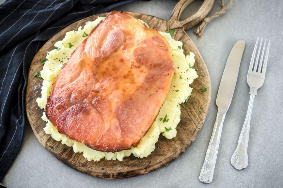 Broiled Ham Steak With Sweet Mustard Glaze