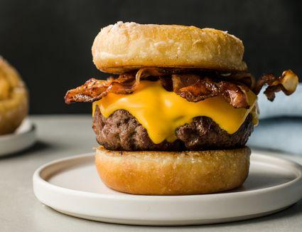Luther Burger: A Doughnut Bacon Cheeseburger
