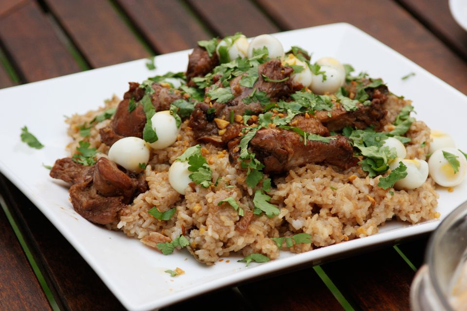 Chicken Adobo with quail eggs