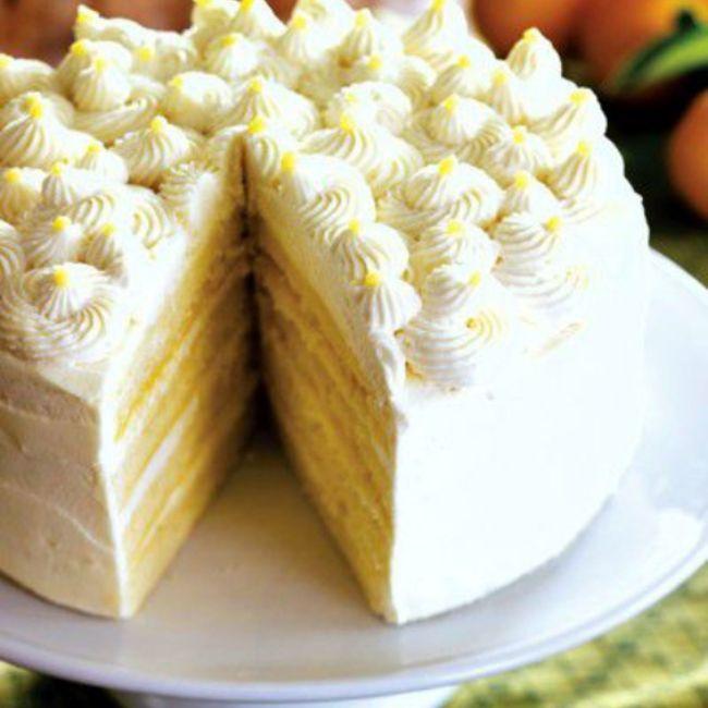 Lemon Mascarpone Layer Cake