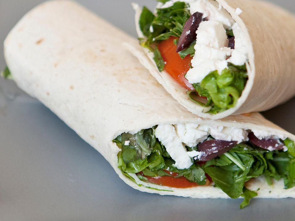 Vegetarian Greek Sandwich Wraps