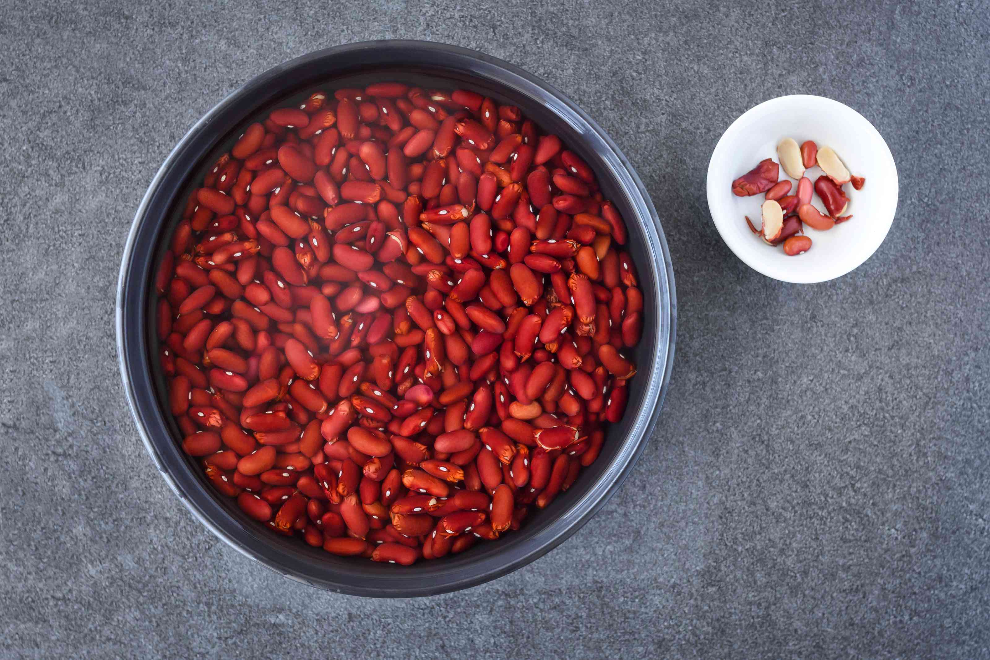 Put dried beans in a bowl