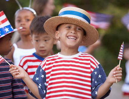 Children at Fourth of July parade