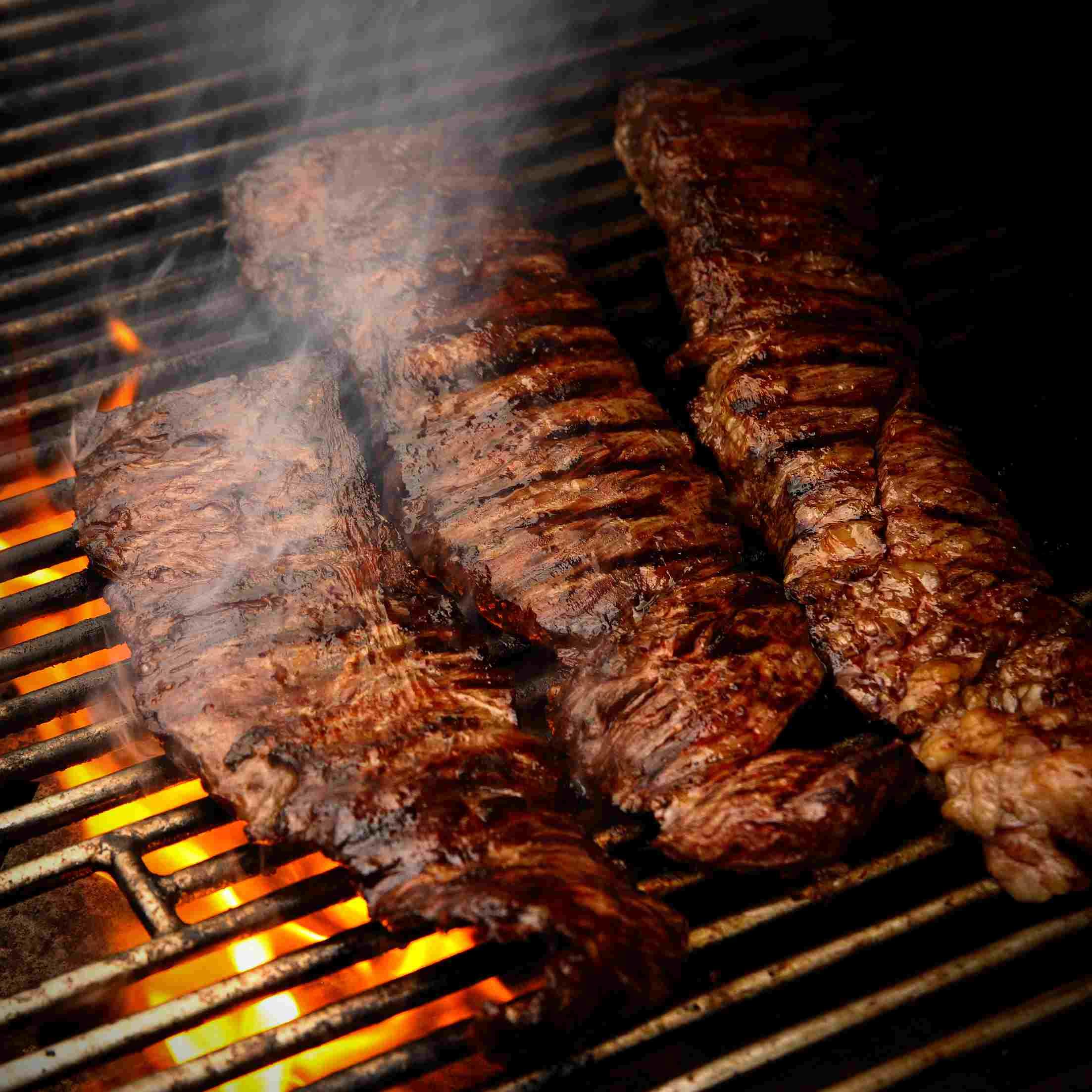 Beef skirt steak.