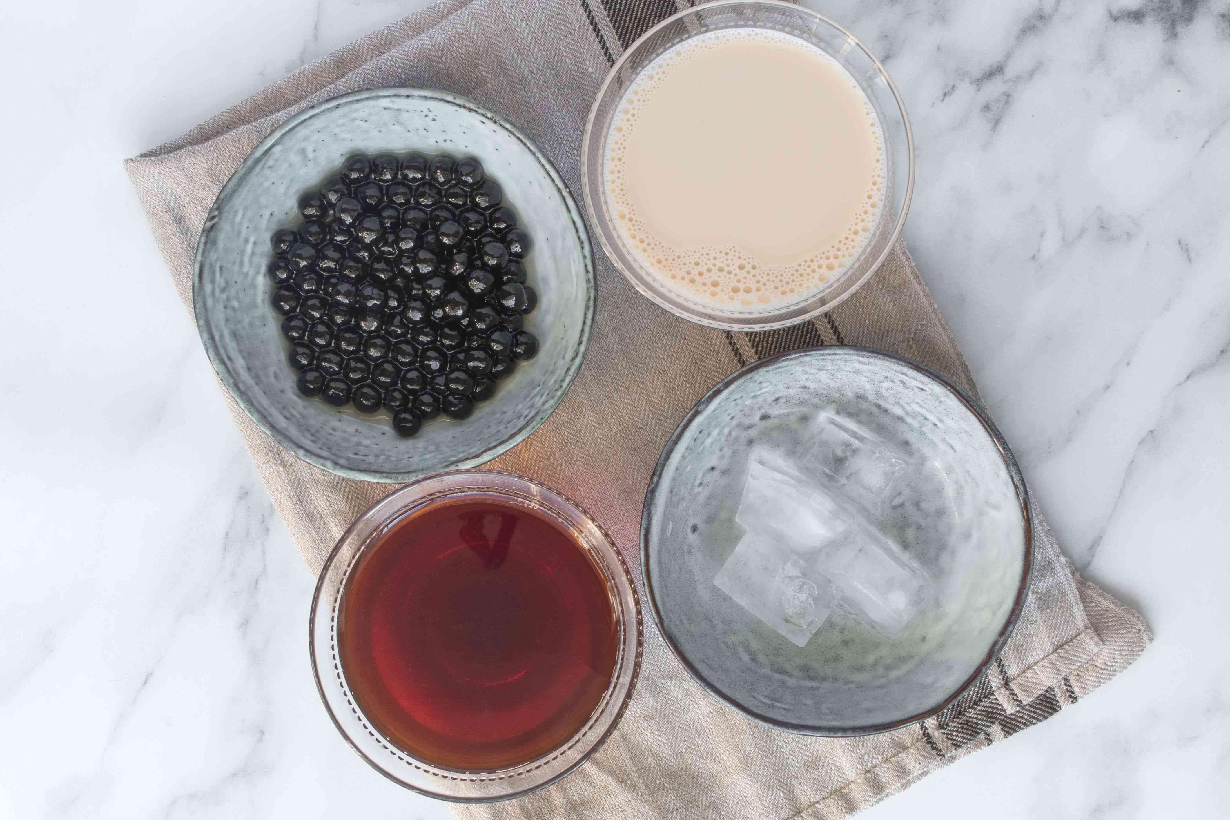 Ingredients for bubble tea