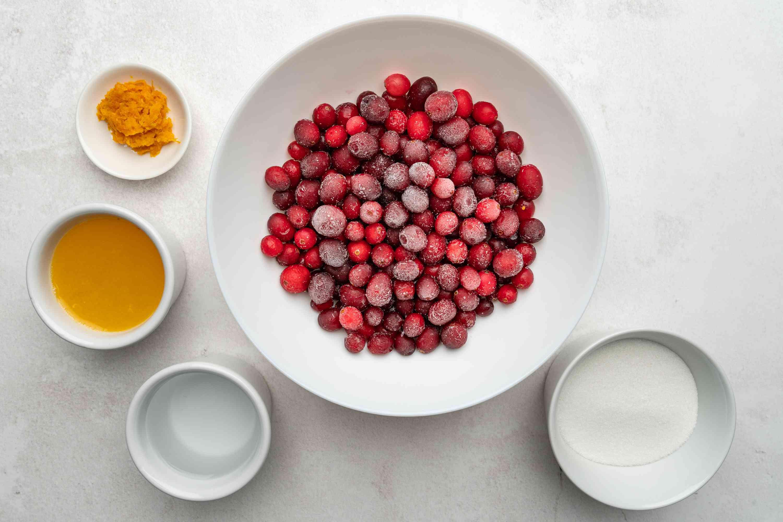 Cranberry Orange Sauce ingredients