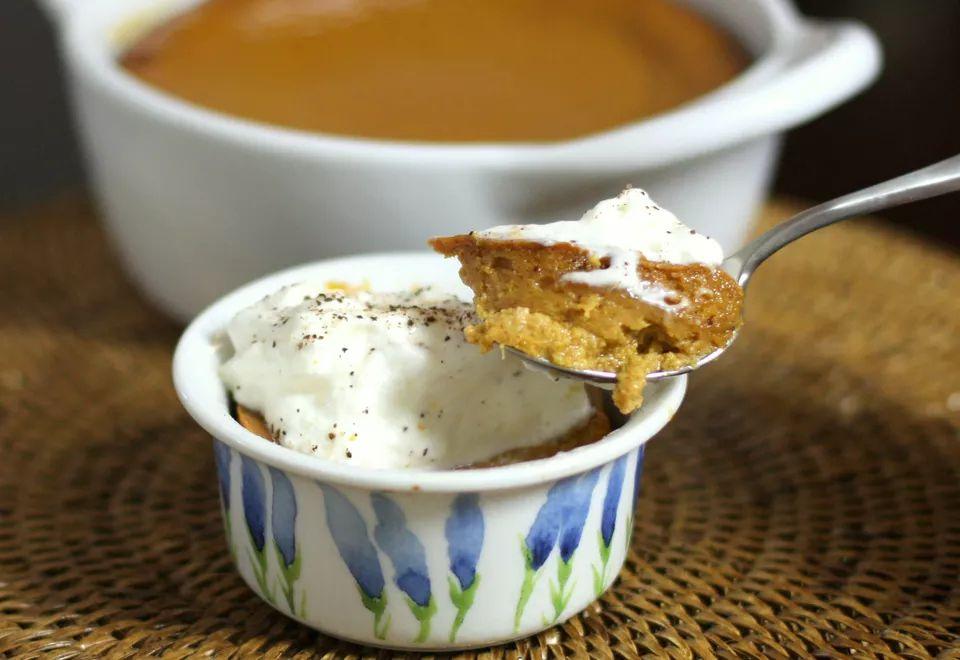 Spiced pumpkin pudding