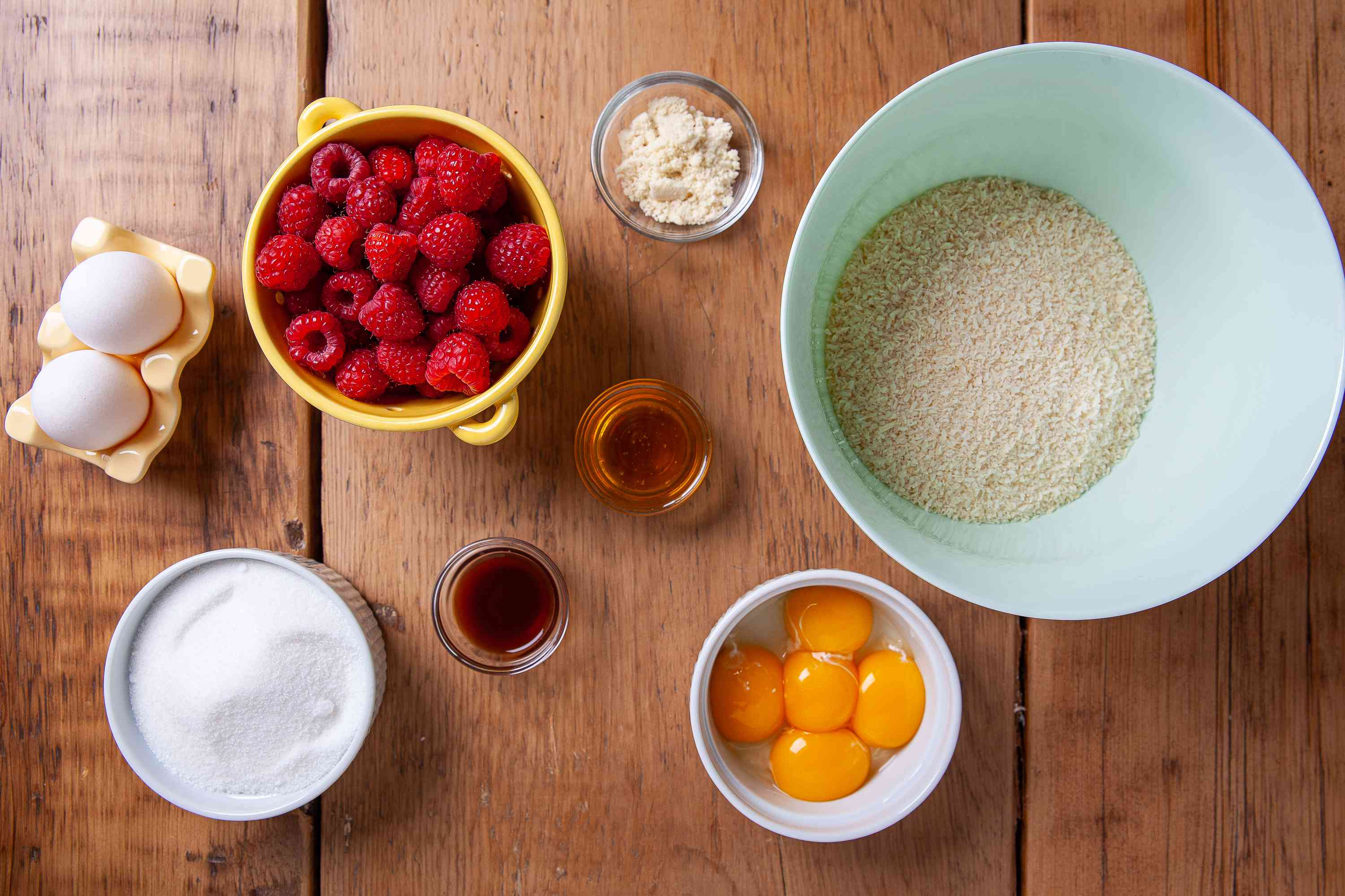 Gather the ingredients for Gluten-Free Coconut Cake