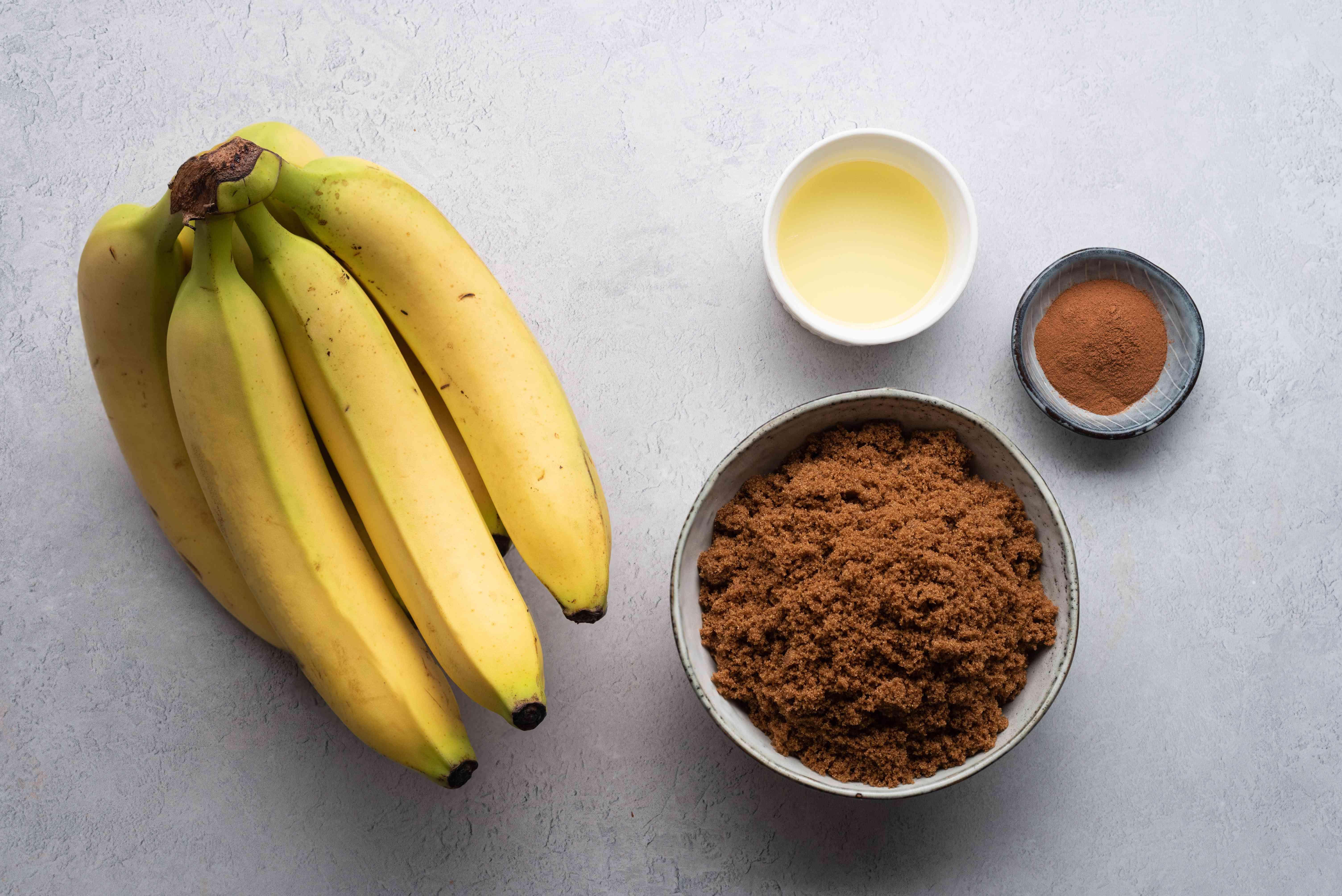 Grilled Brown Sugar Bananas ingredients