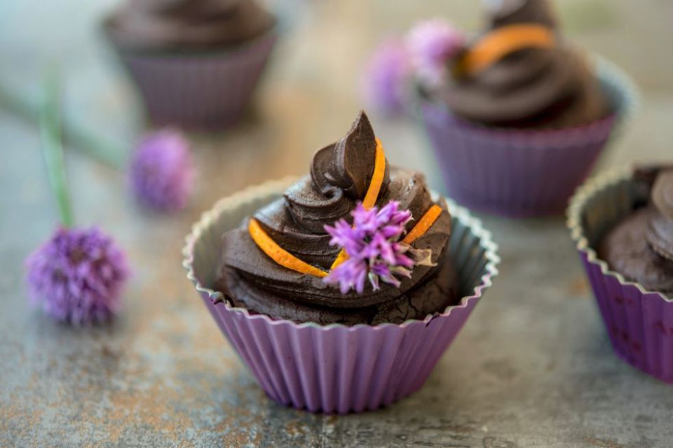 Flourless Chocolate and Orange Cupcakes