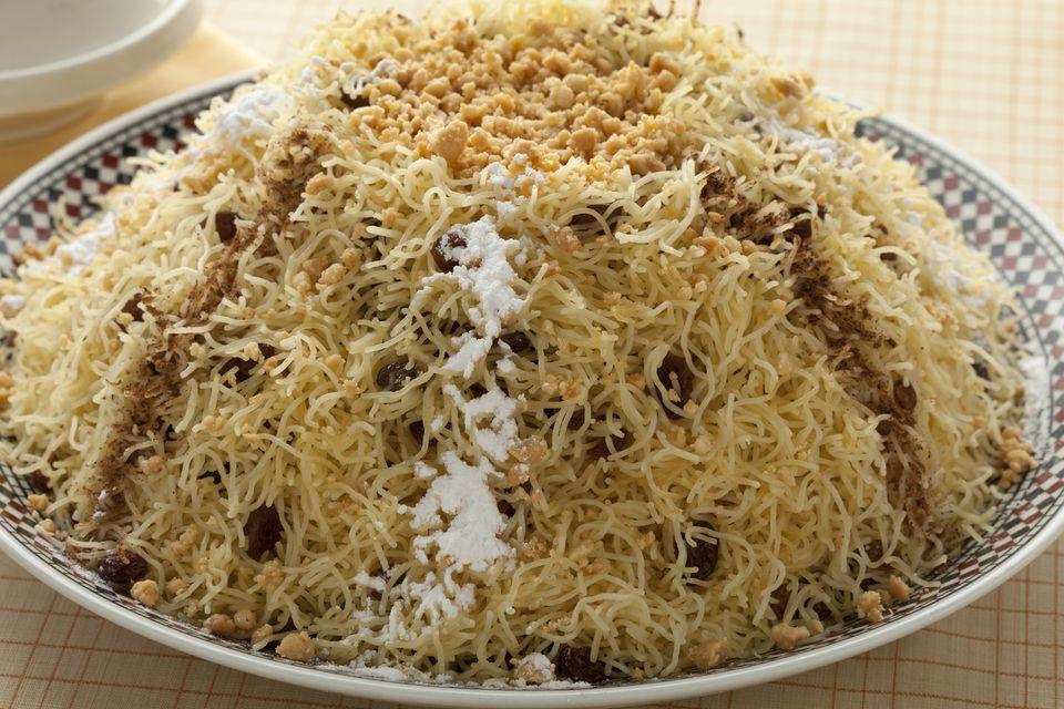 Receta Seffa Medfouna (Fideos con pollo con azafrán)
