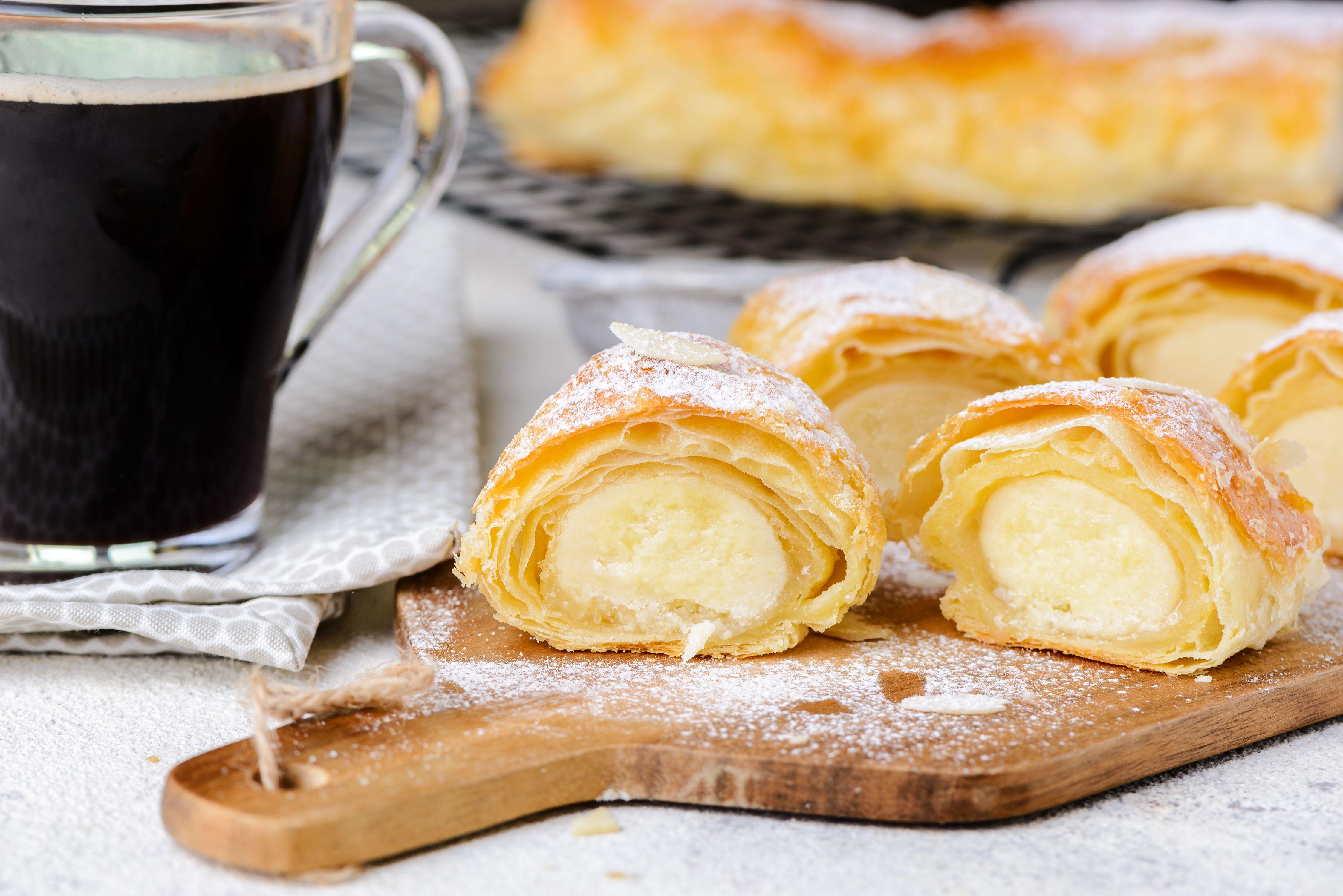 Sliced Dutch Almond Paste-Filled Pastry Log (Banketstaaf)