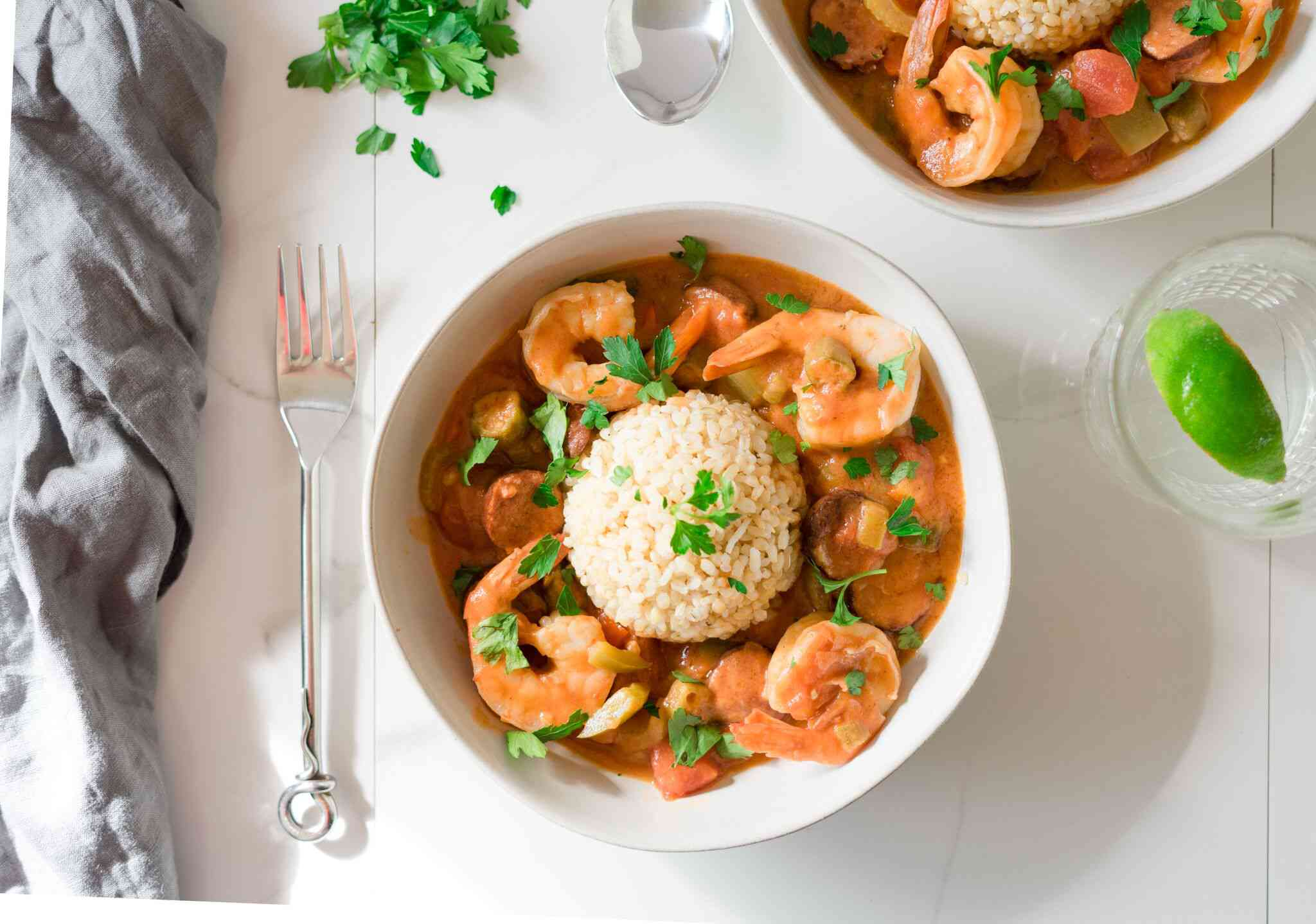 Classic Sausage and Shrimp Gumbo