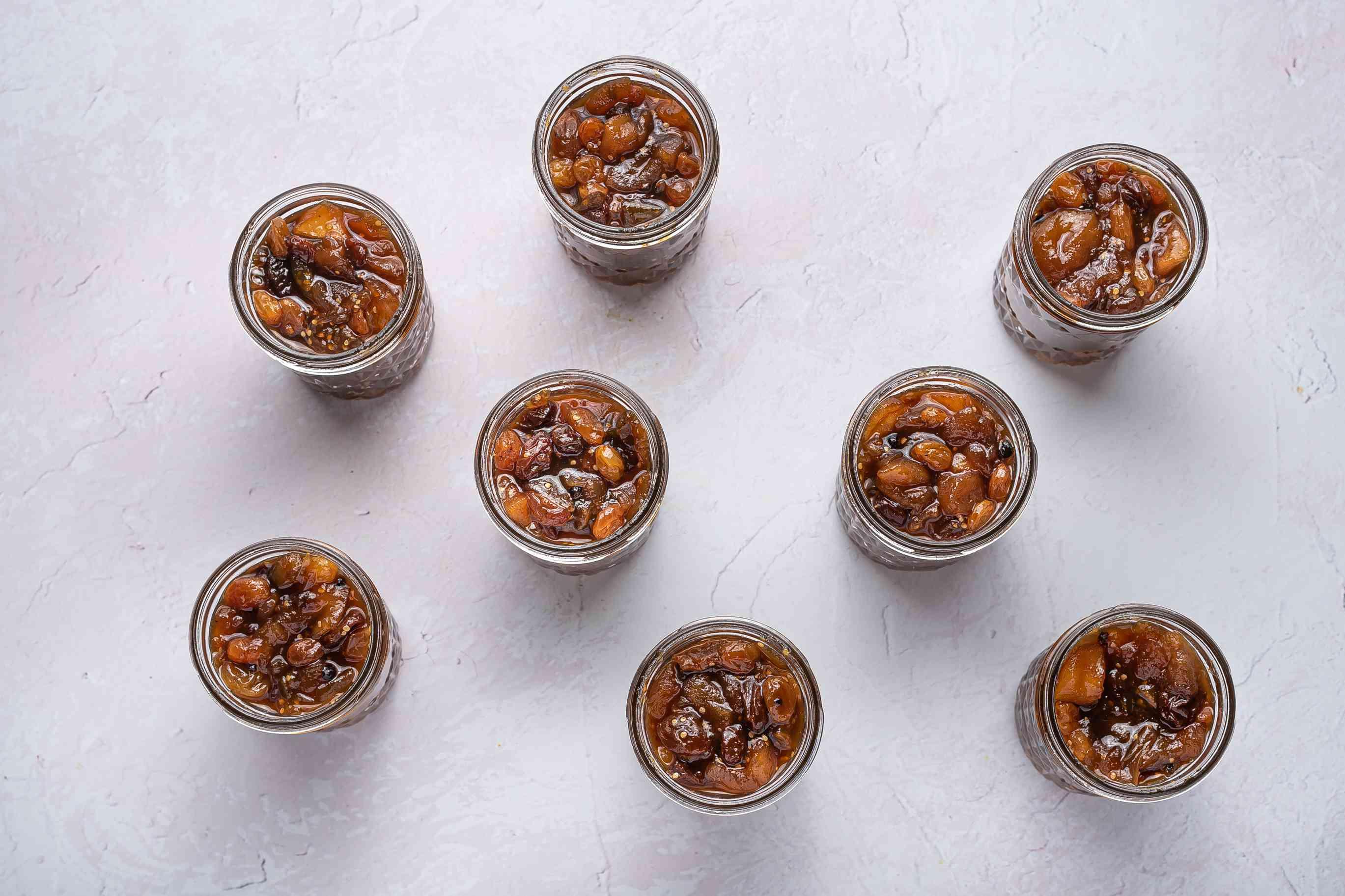 chutney in glass jars