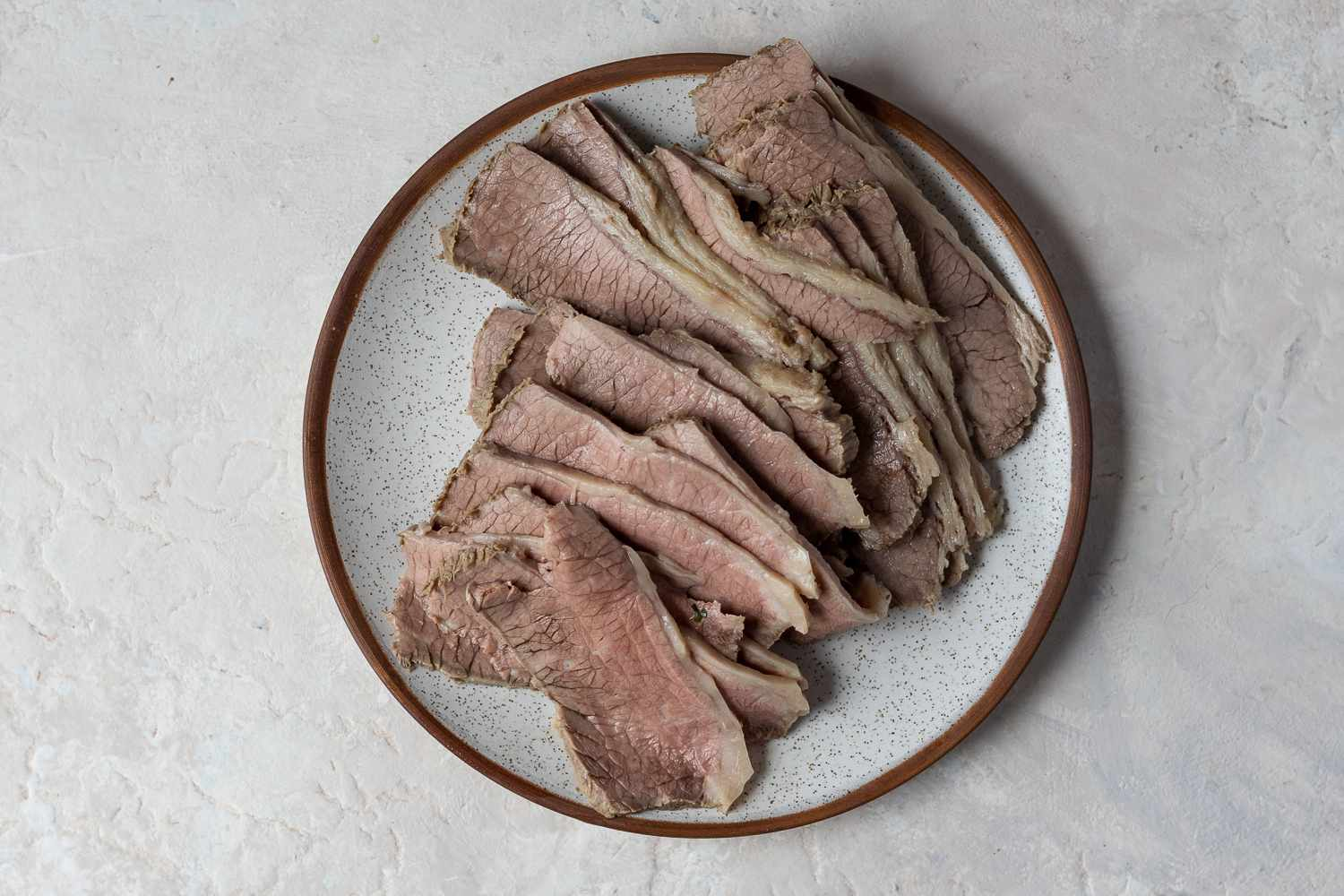 beef on a plate