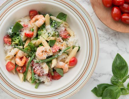 Shrimp Pasta Primavera Pasta