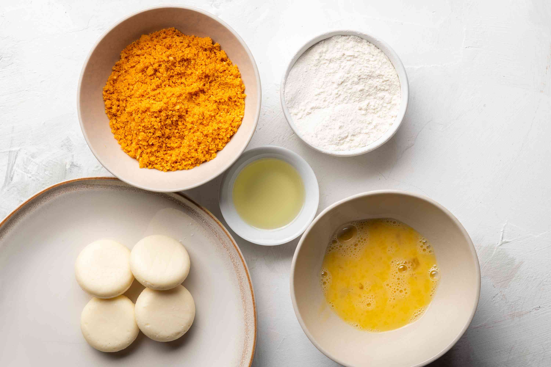 Gather ingredients for Doritos crusted Babybels