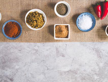 Spices for Carolina barbecue rub