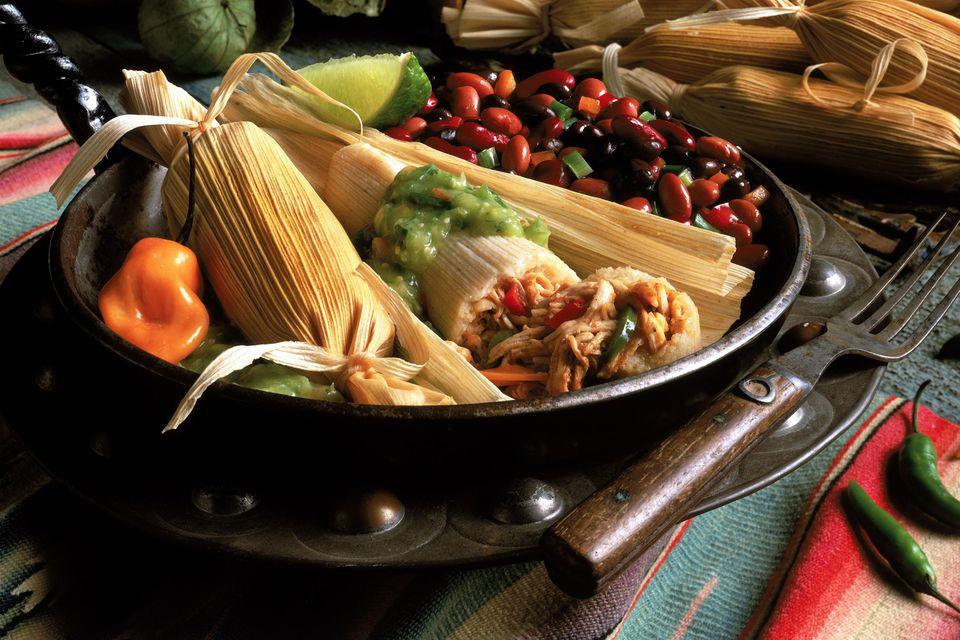 tamales in a pan