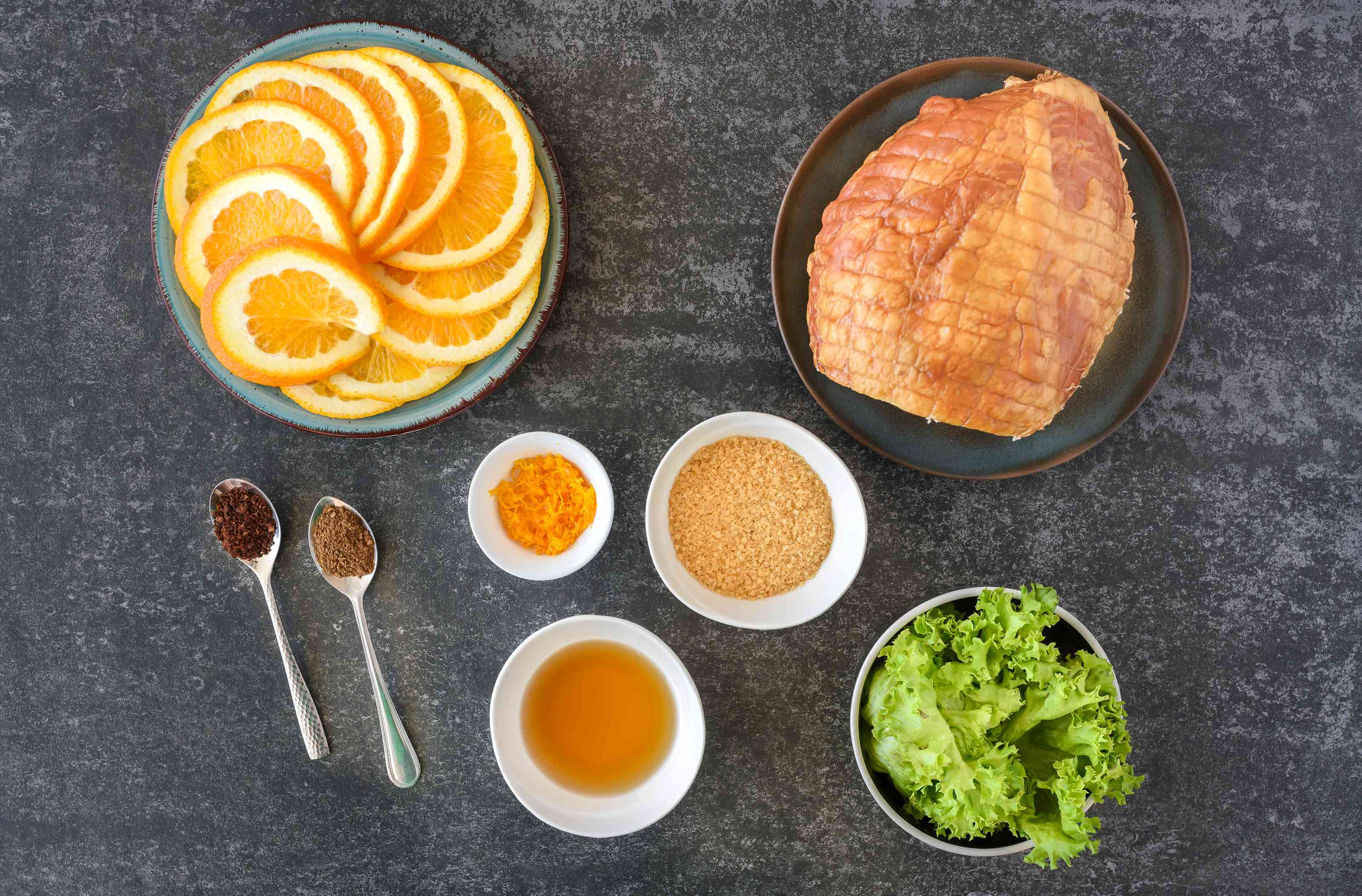 Ingredients for Jack Daniels glazed ham