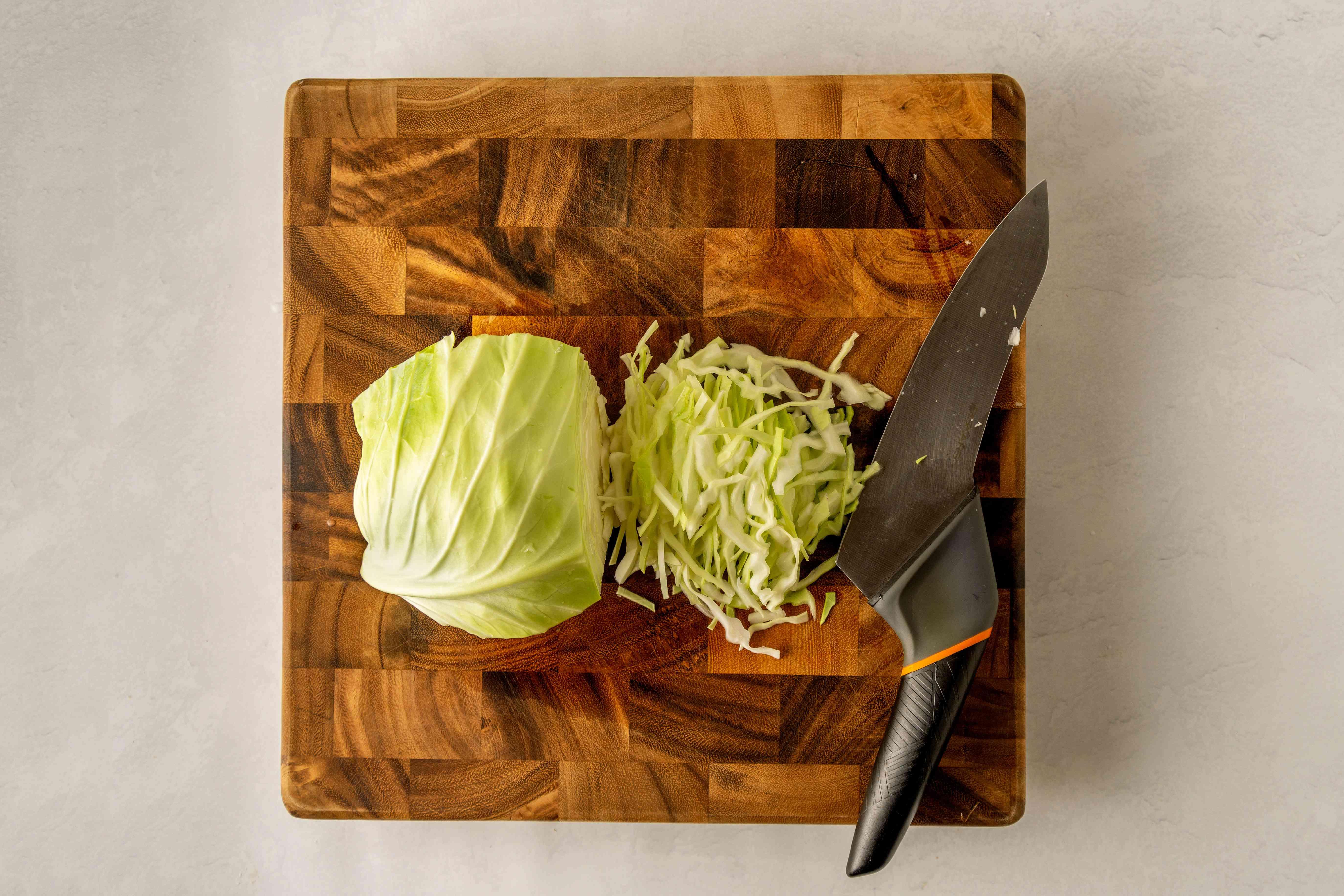 Chop cabbage