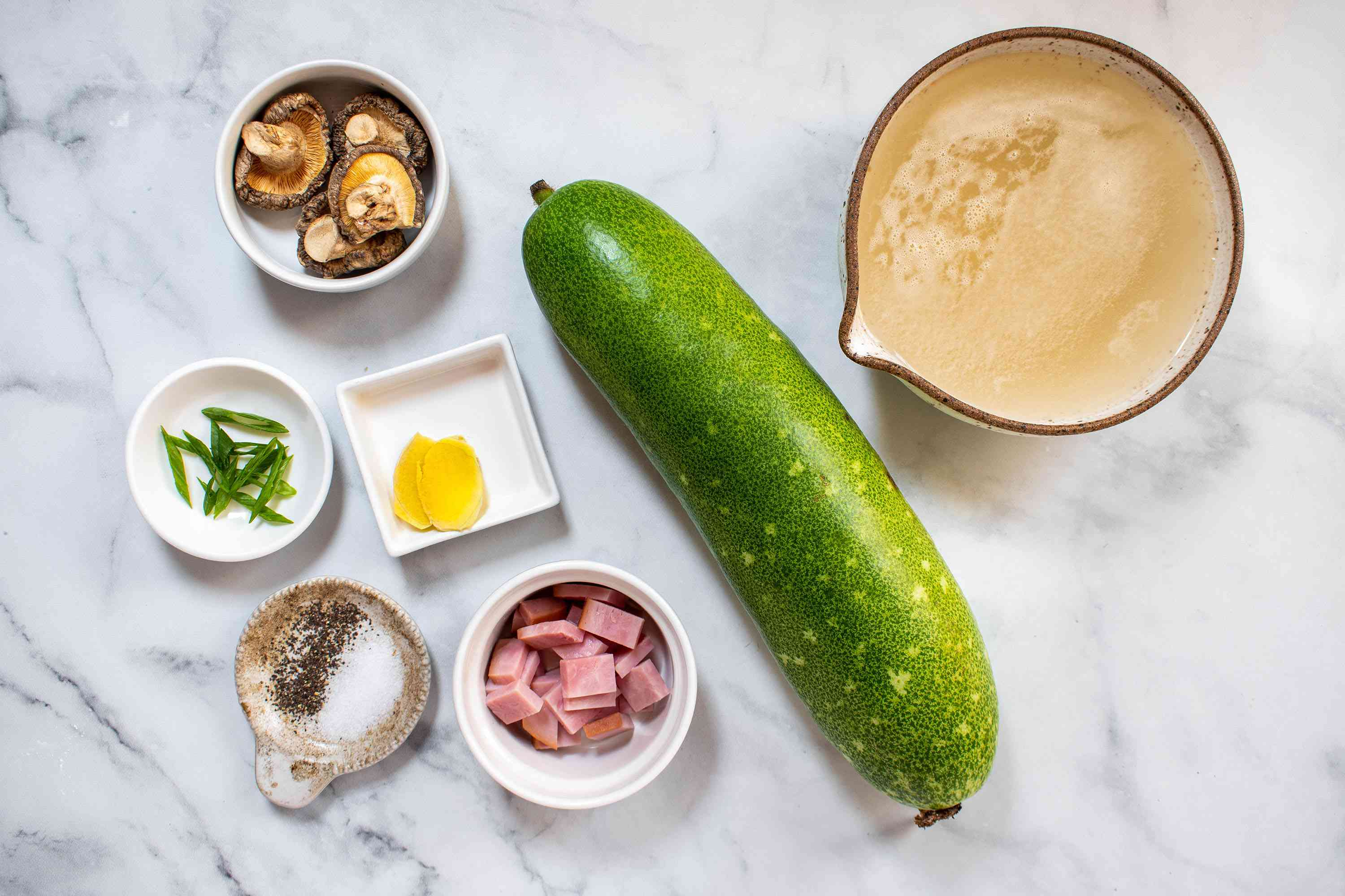 Chinese Winter Melon Soup ingredients