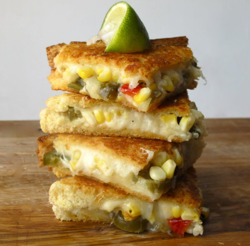 Roasted Corn Grilled Cheese