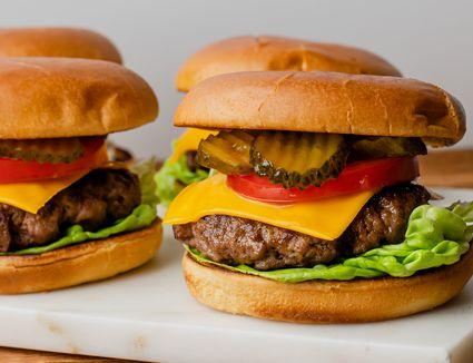 Juicy baked burgers recipe