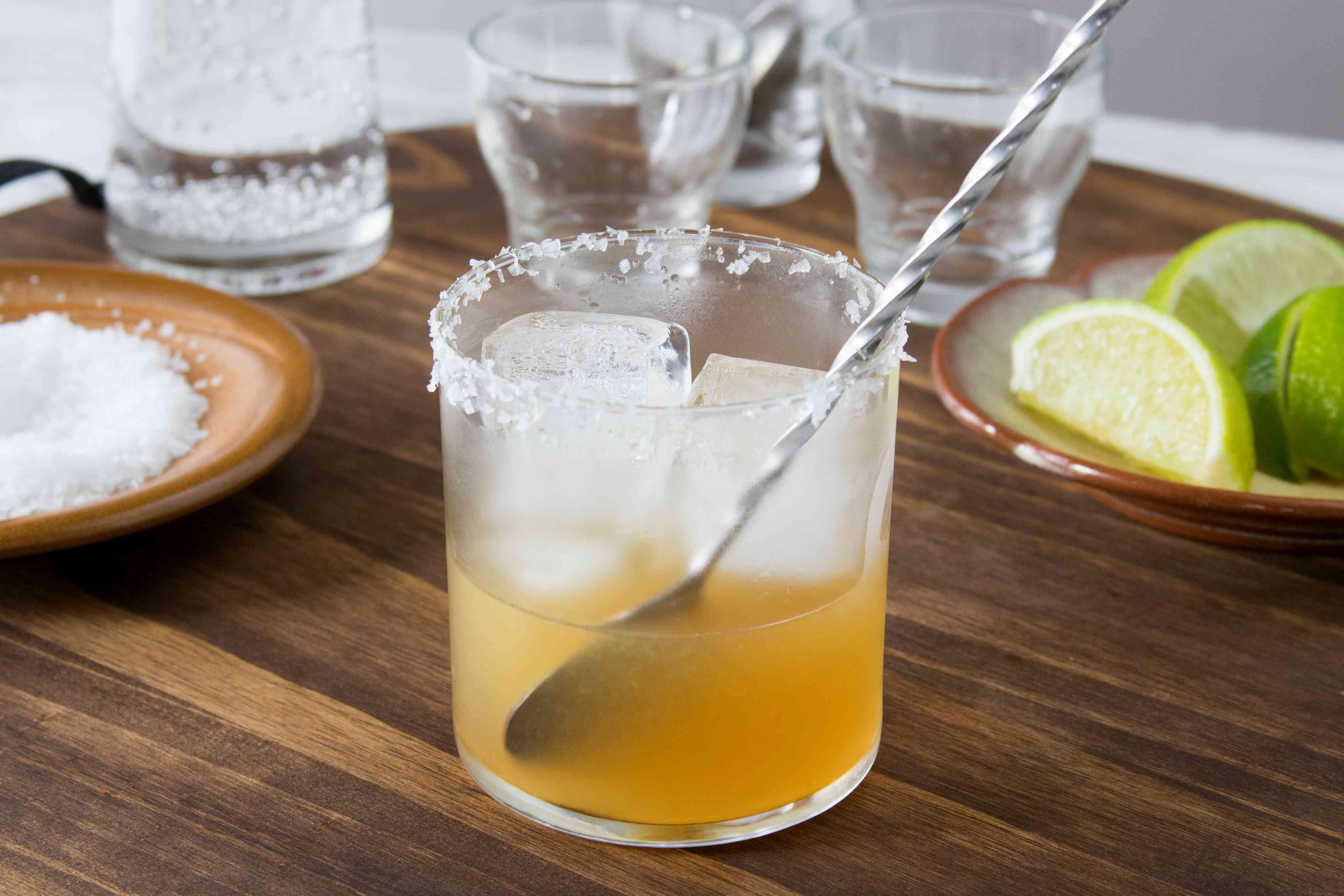Mixing a Fresh Virgin Margarita