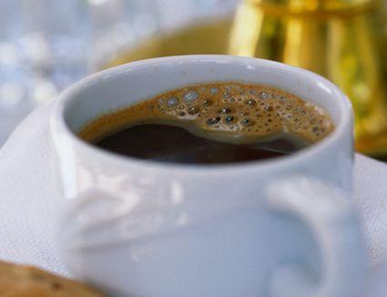 Greek coffee in a white mug