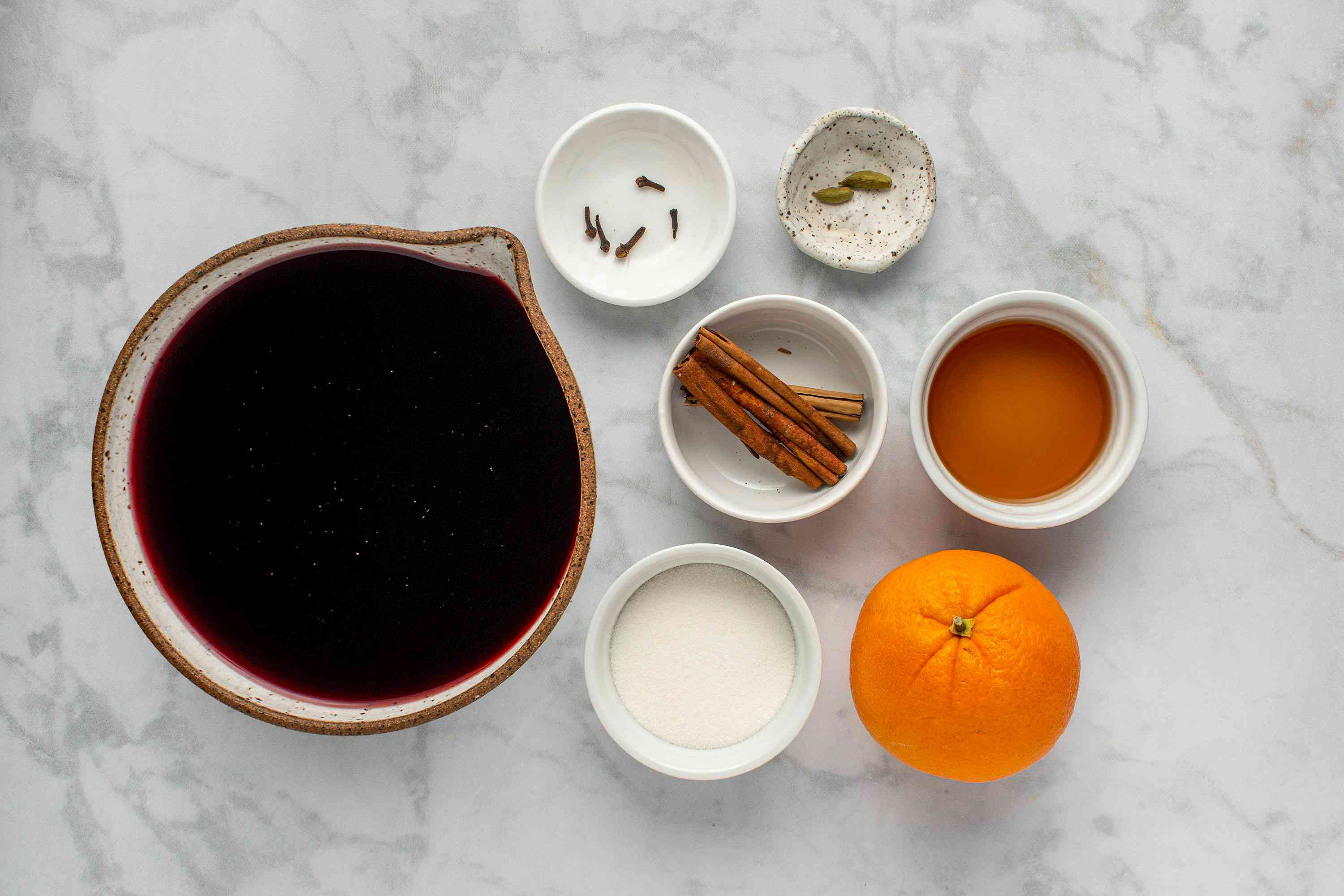 Vin Chaud (French Mulled Wine) ingredients