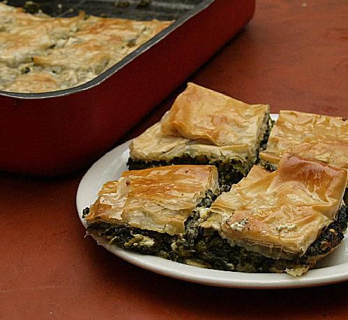 Photo of Greek Spinach Pie with Cheese - Spanakopita - Spanakotyropita