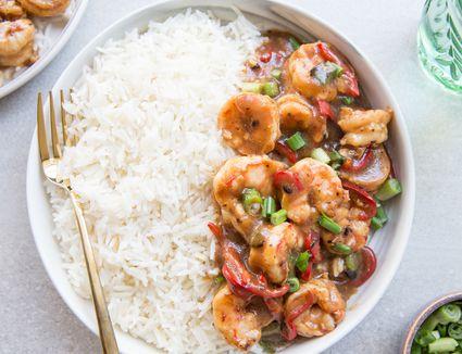 Chinese Stir-Fry Shrimp in Black Bean Sauce