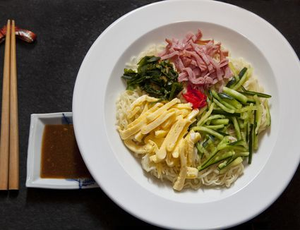 7 easy japanese recipes to try at home an easy recipe for hiyashi chuka or japanese cold noodles forumfinder Images