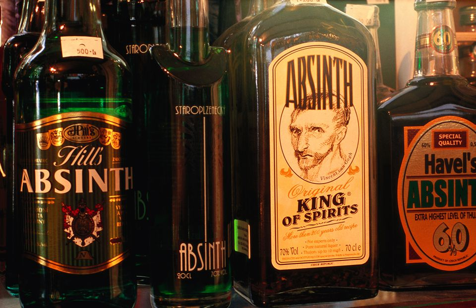 Bottles of Absinthe