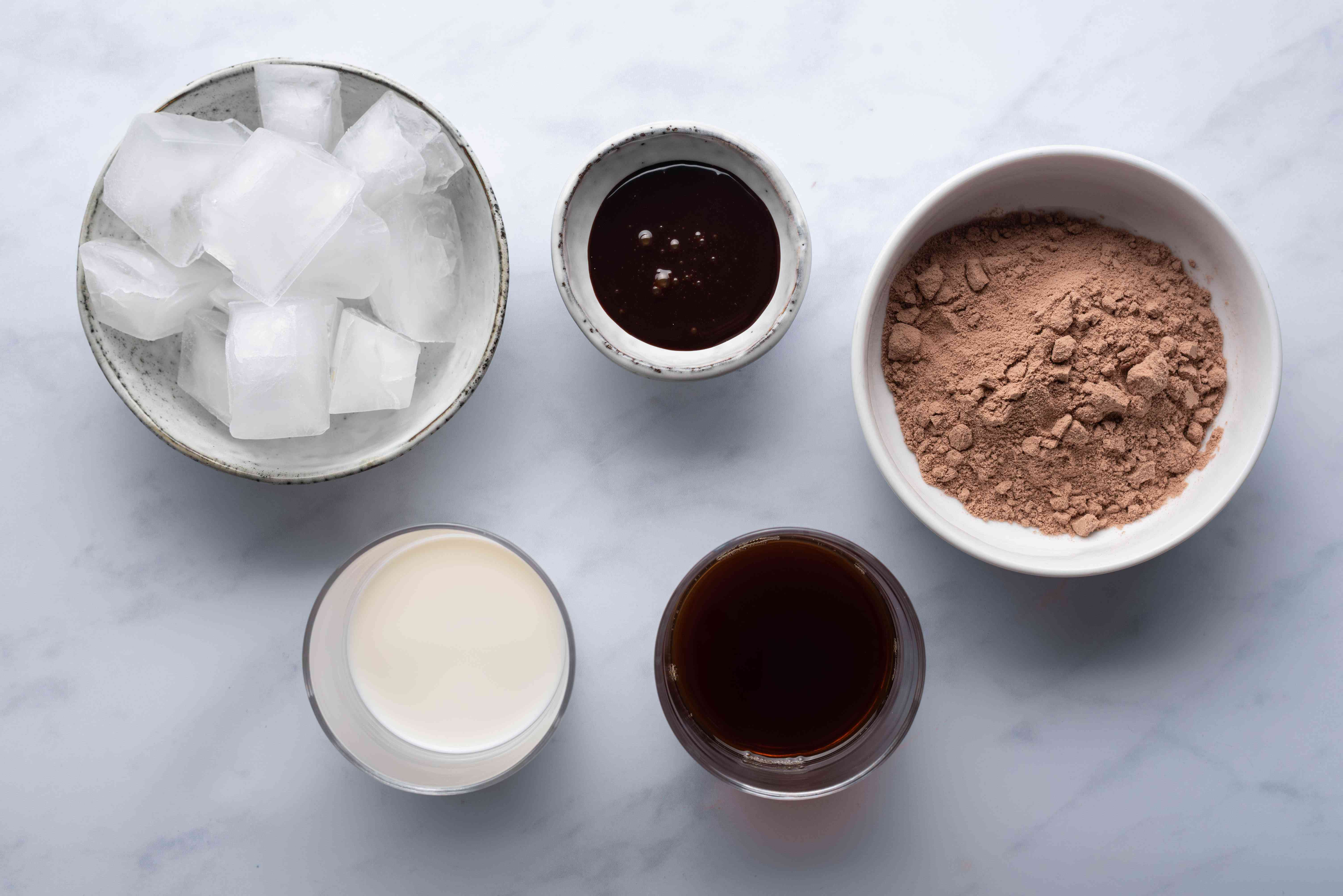 Chocolate Coffee Protein Shake ingredients