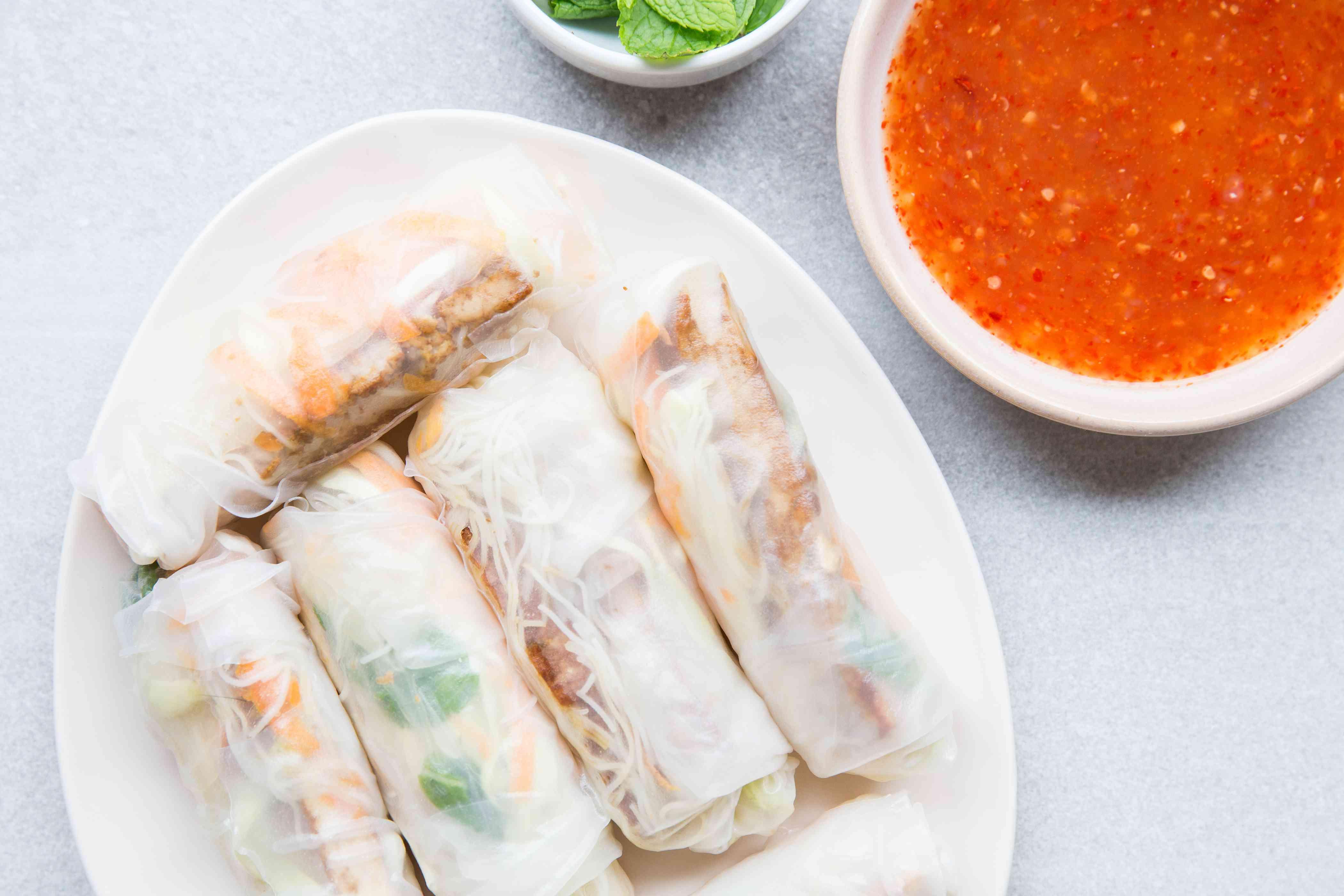 Vegan Tofu Spring Rolls
