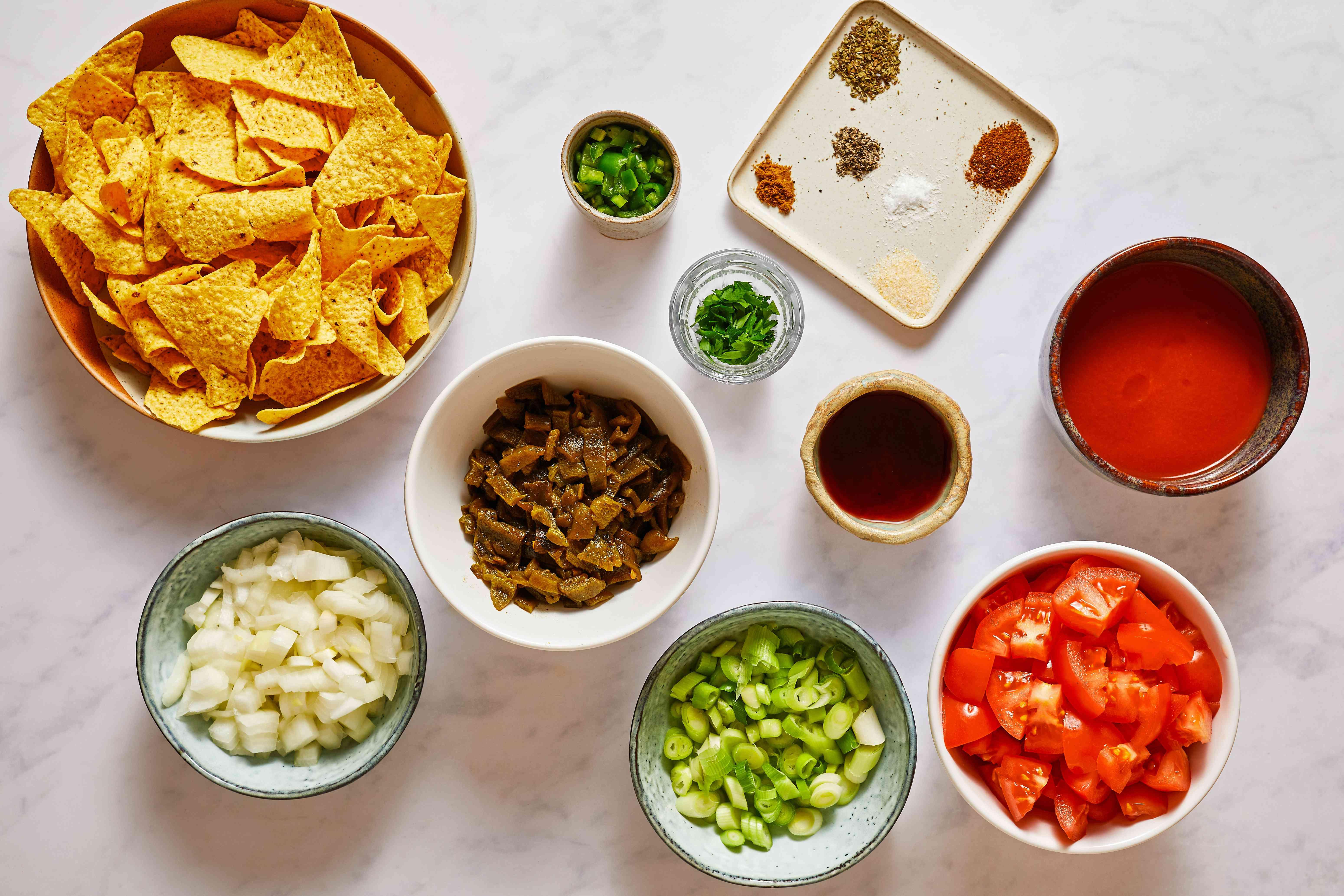 Chunky Homemade Salsa ingredients
