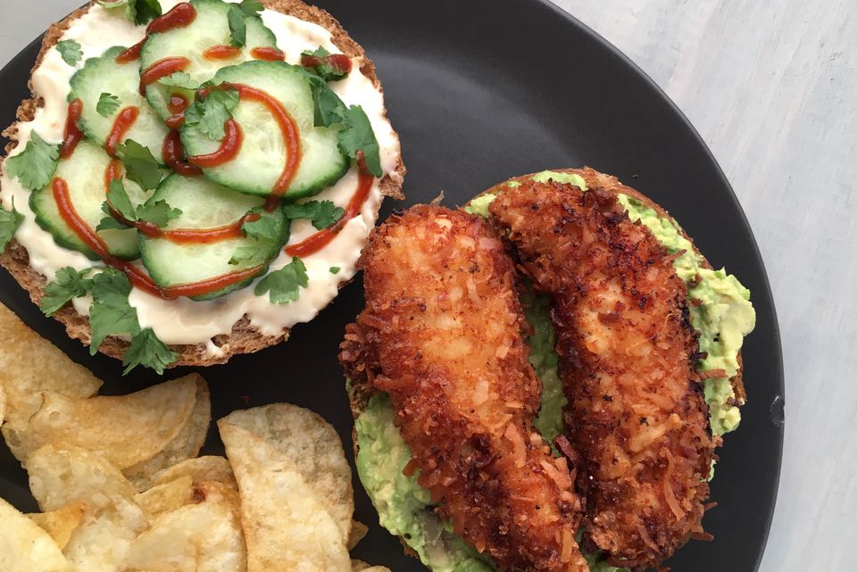 Tropical Coconut Fried Chicken Sandwich