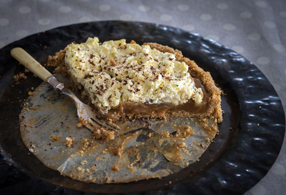 La última receta de tarta de banoffee sin hornear