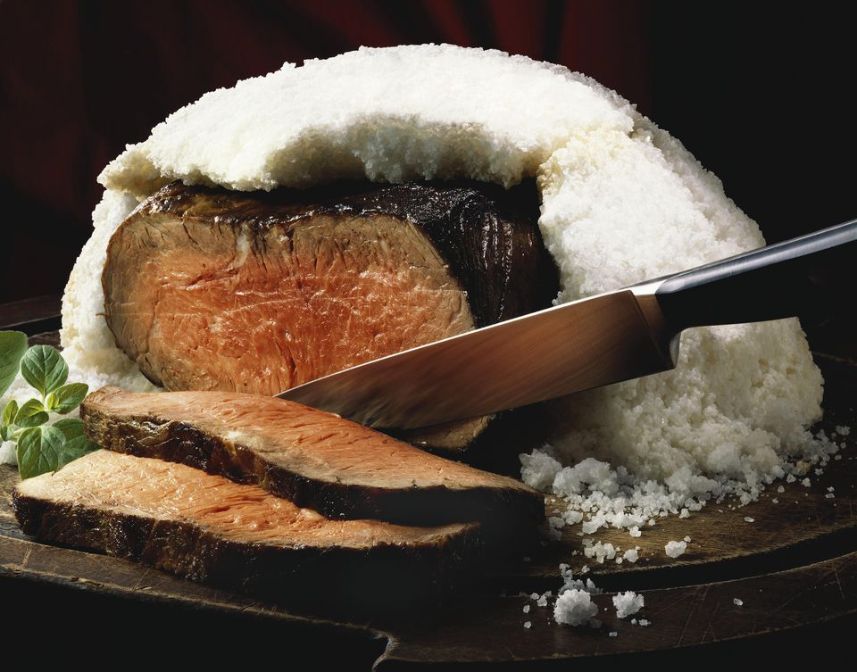 Salt Crusted Steak