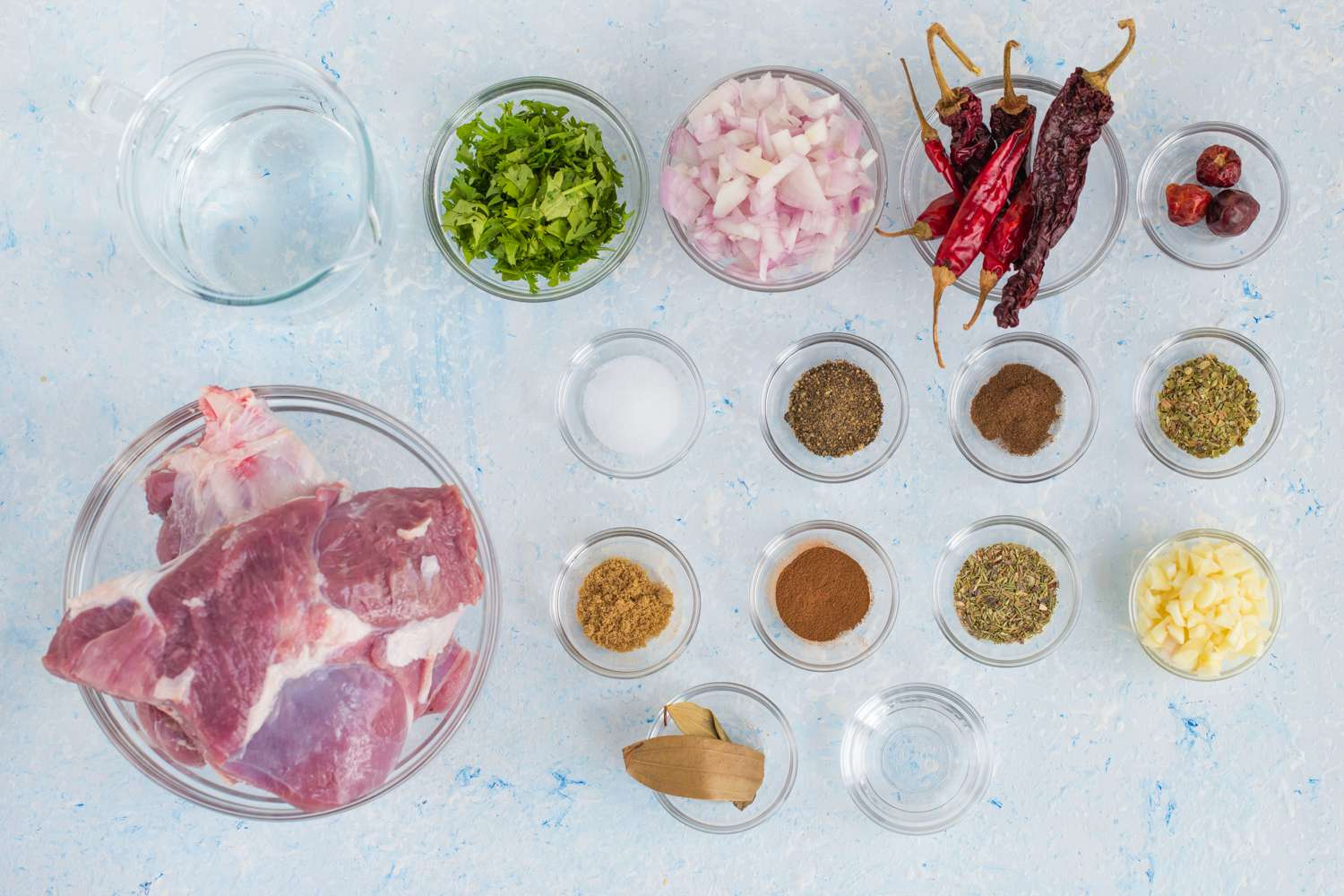 Ingredients for birria