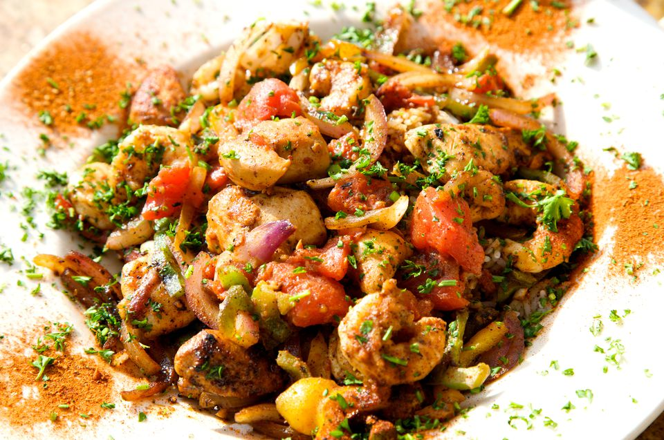 Shrimp and Crawfish Jambalaya