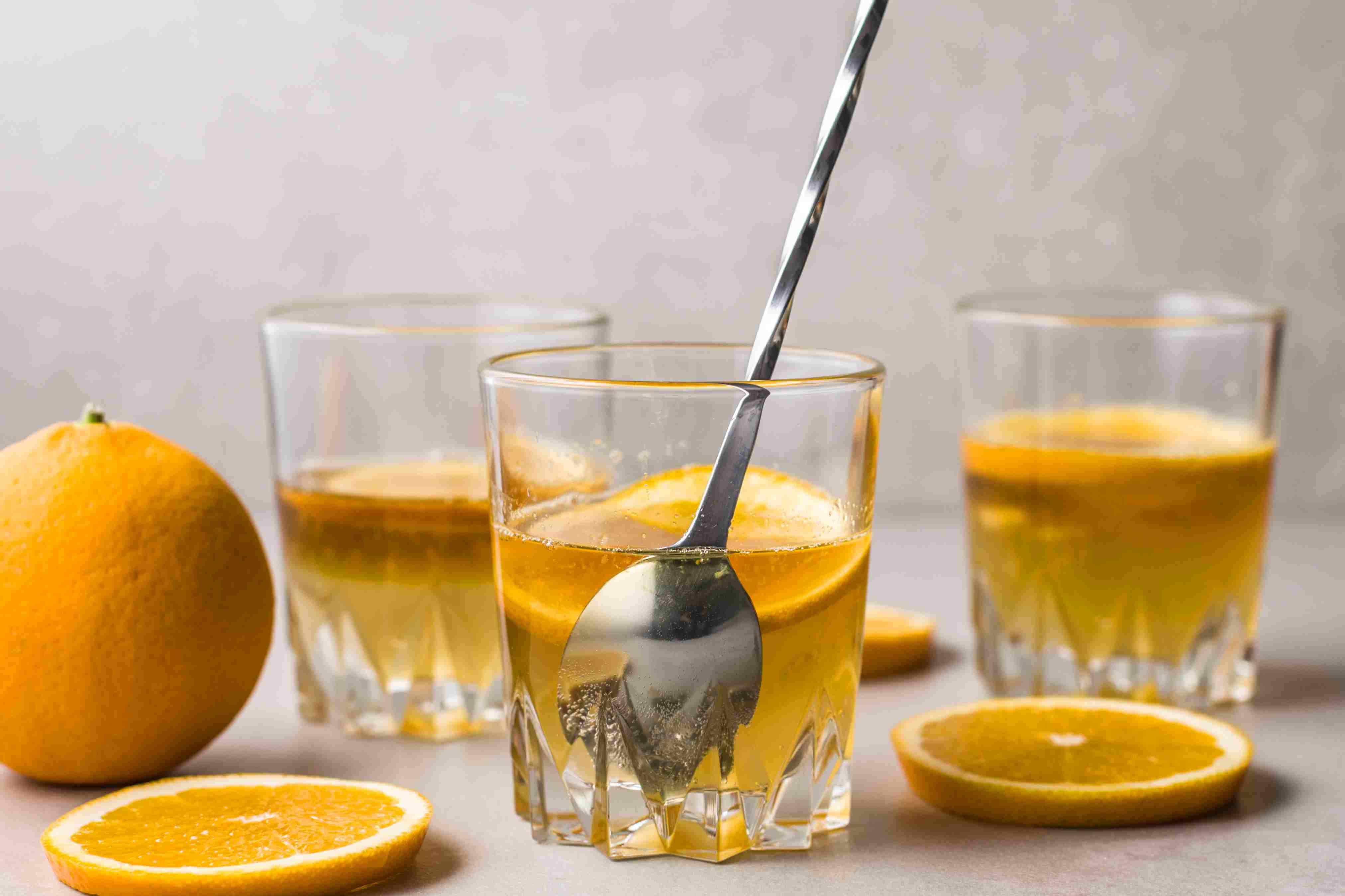 Stirring a summer breeze cocktail