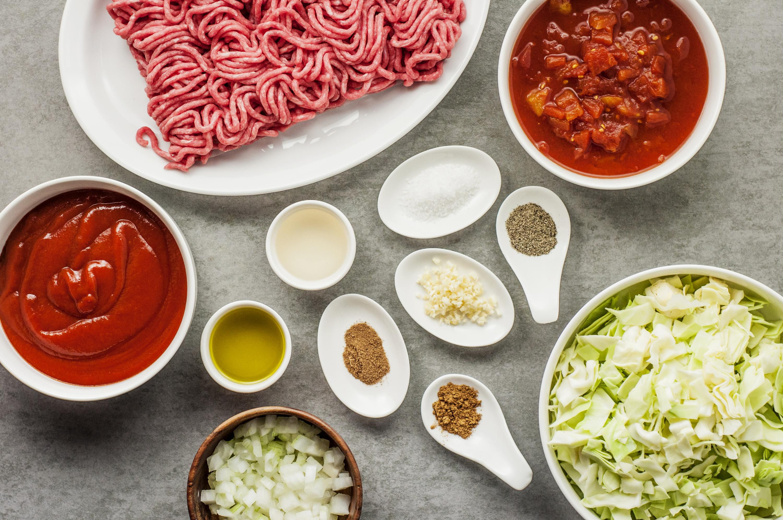 Unstuffed Cabbage Rolls Ingredients