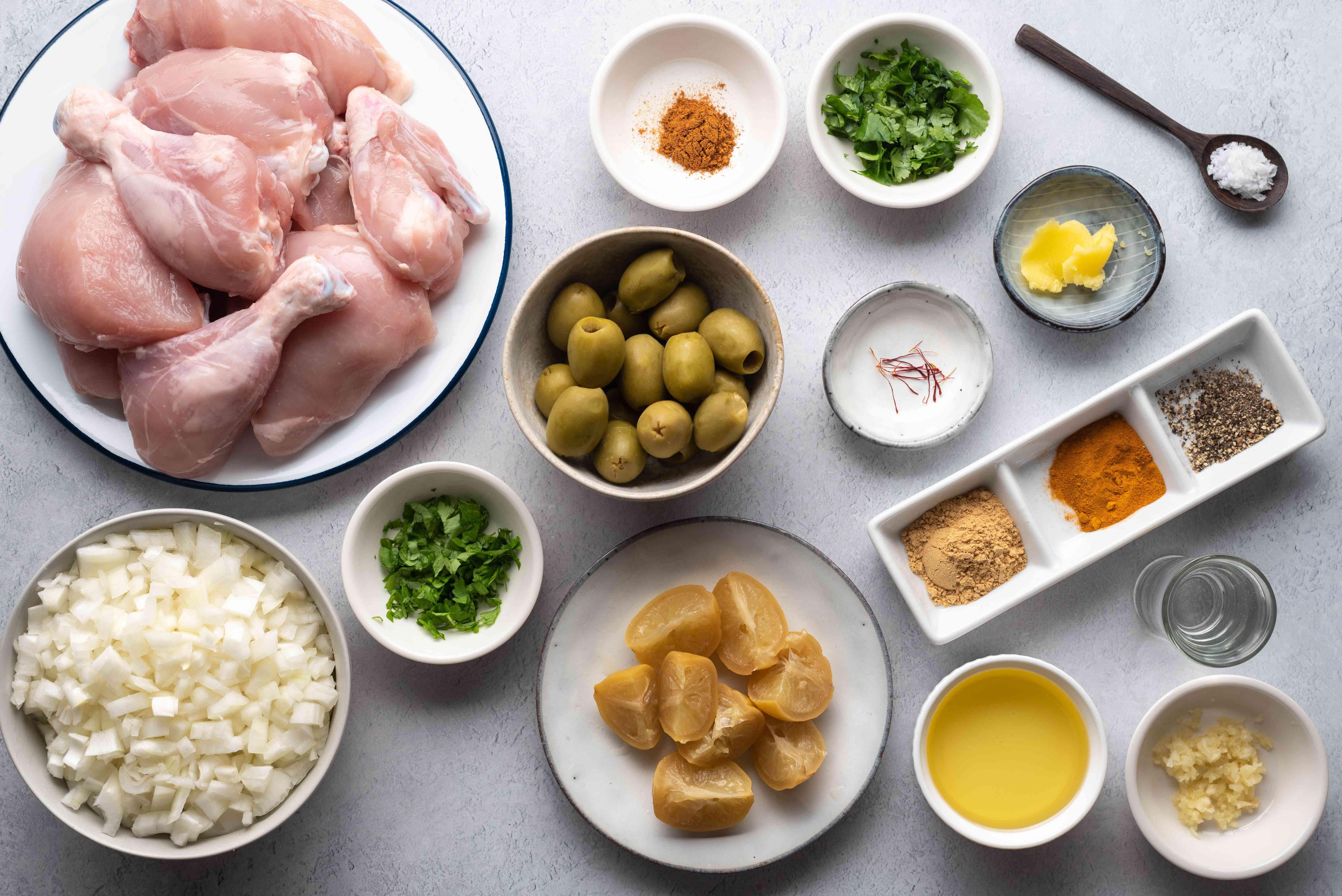 The Best Moroccan Chicken Tagine ingredients