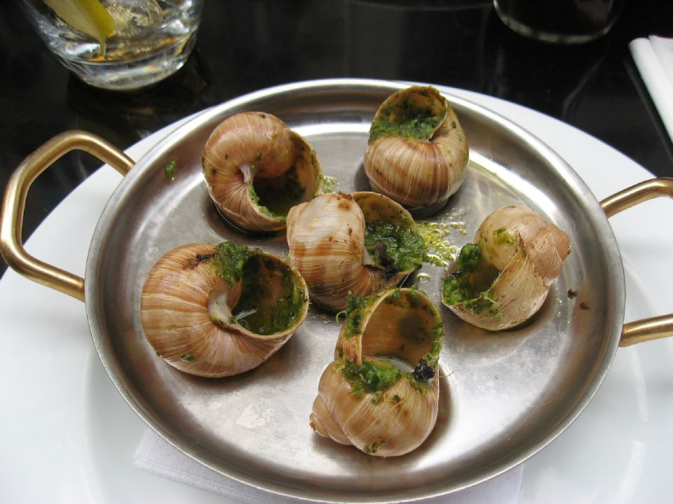 escargot on a plate