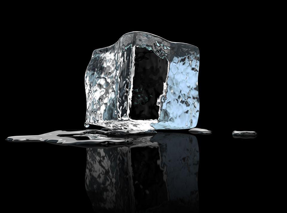 a melting ice cube
