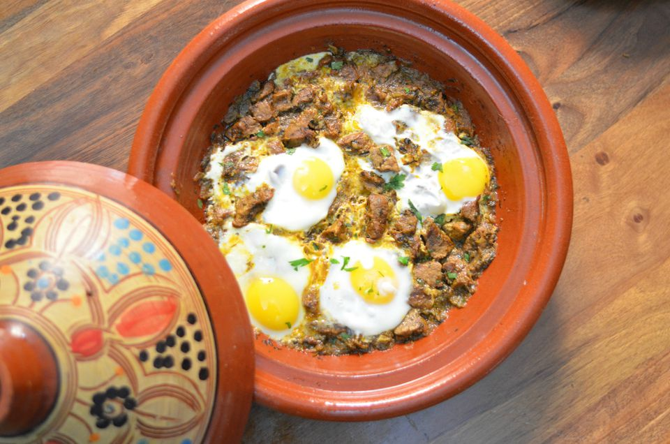 kebab tagine with poached eggs