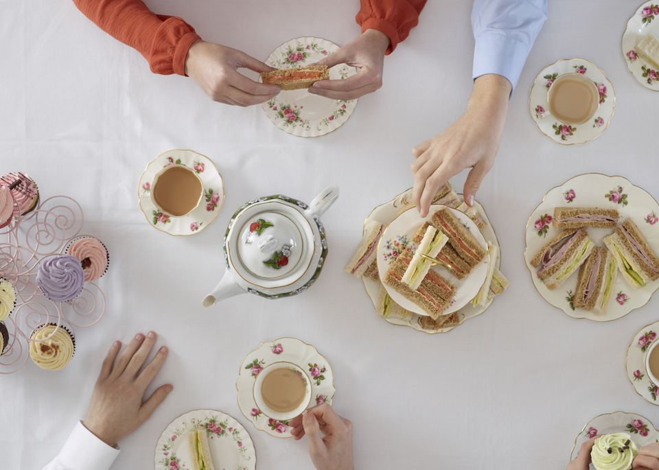 People having tea